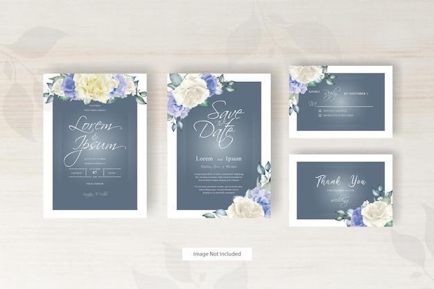 Hochzeitseinladungsschablone des aquarellblumengestecks