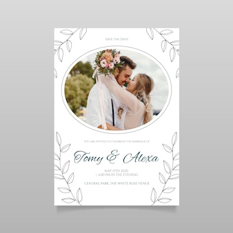 Hochzeitseinladungsschablone mit bild