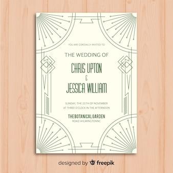 Hochzeitseinladungsschablone mit schönem kunst-deko-design