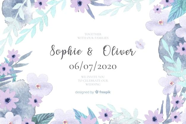 Hochzeitseinladungsschablone
