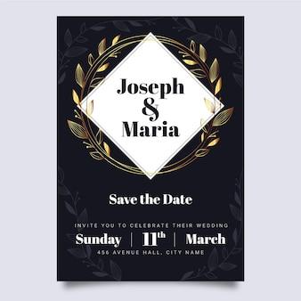Hochzeitseinladungsschablonen-luxusstil