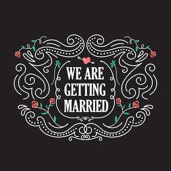 Hochzeitseinladungsschablonen mit blumenweinleserahmenvektor