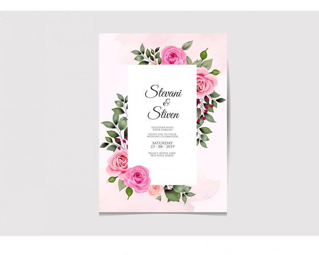Hochzeitseinladungsschablonenschönheit und elegant