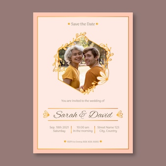 Hochzeitseinladungsschablonenthema