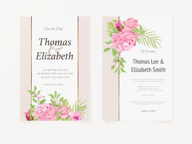 Hochzeitseinladungssommerblumenschablone