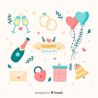 Hochzeitselemente sammlung