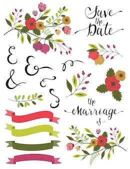 Hochzeitselemente.
