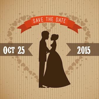 Hochzeitsentwurf über direkter hintergrundvektorillustration