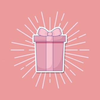 Hochzeitsfeier mit geschenkbox