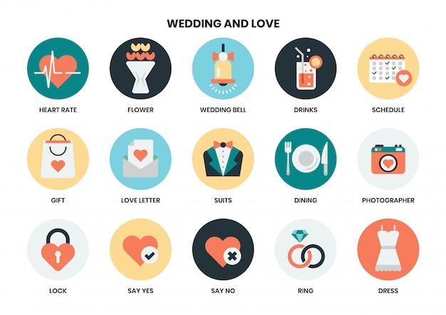 Hochzeitsikonensatz
