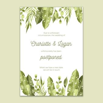 Hochzeitskarte aquarellentwurf