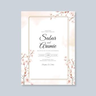 Hochzeitskarte aquarellschablone
