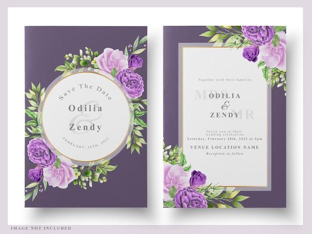 Hochzeitskarte blumenaquarell