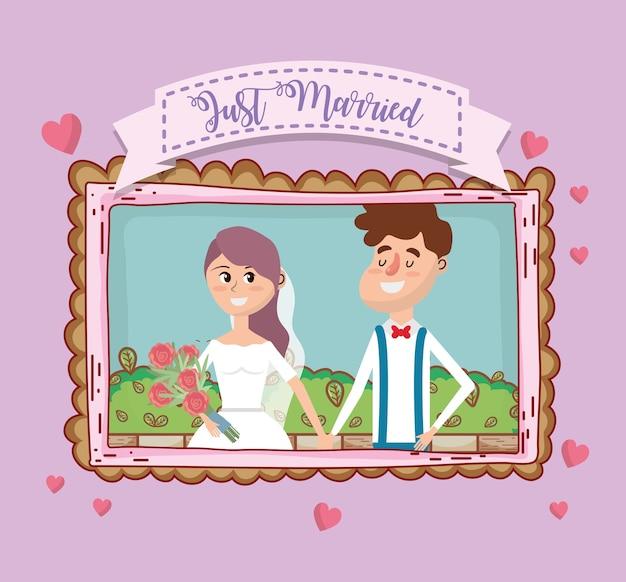 Hochzeitskarte design cartoon
