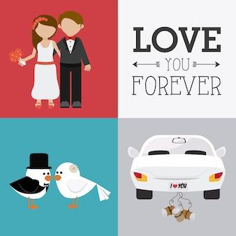 Hochzeitskarte design.