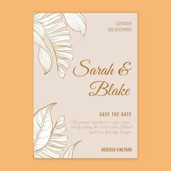 Hochzeitskarte im blumenstil