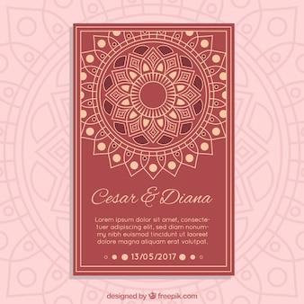 Hochzeitskarte madala design
