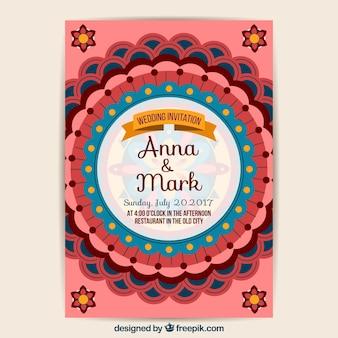 Hochzeitskarte mandala design