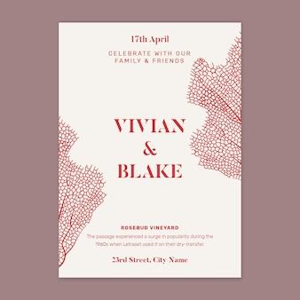 Hochzeitskarte minimalistischen stil