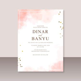 Hochzeitskarte mit abstraktem spritzwasseraquarell