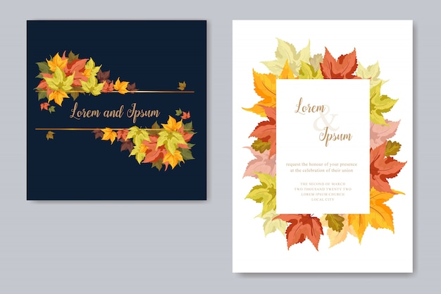 Hochzeitskarte mit ahornblatt