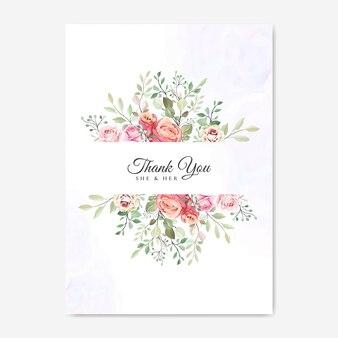 Hochzeitskarte mit schönen floralen vorlage
