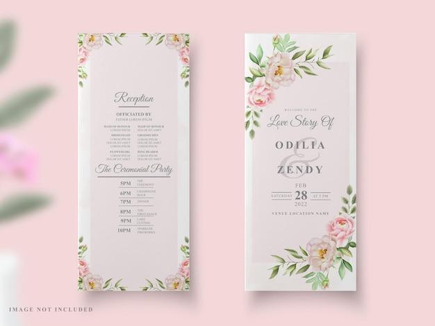 Hochzeitskarte pfingstrosen aquarell design