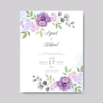Hochzeitskarteneinladung mit schöner blume