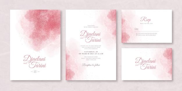Hochzeitskartenset mit spritzaquarell