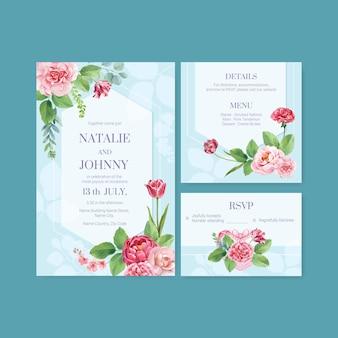 Hochzeitskartenvorlagen gesetzt