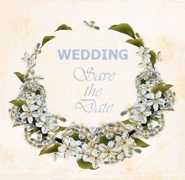 Hochzeitskranz mit kirschblumen