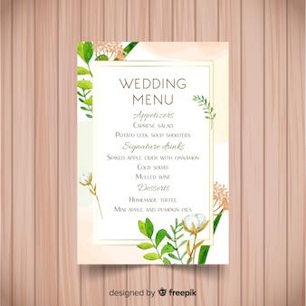 Hochzeitsmenüvorlage