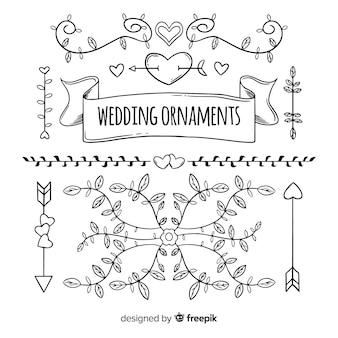 Hochzeitsornamentansammlung