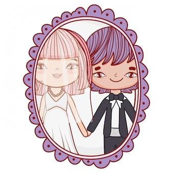 Hochzeitspaar fotozeichnungen