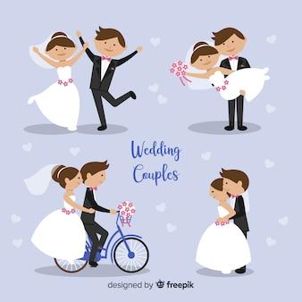 Hochzeitspaar-zeichensammlung