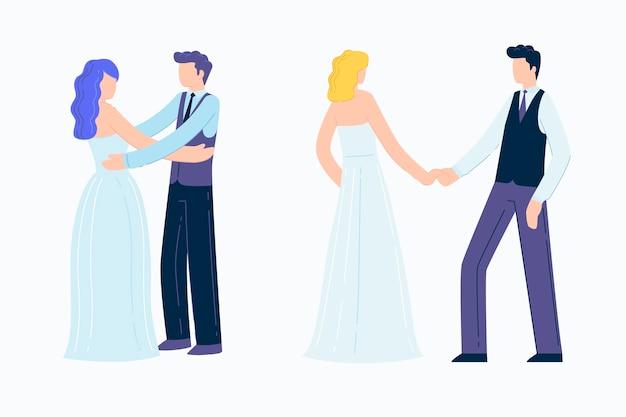 Hochzeitspaare packen