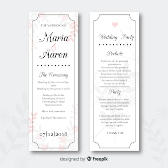 Hochzeitsprogramm
