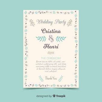 Hochzeitsprogrammvorlage