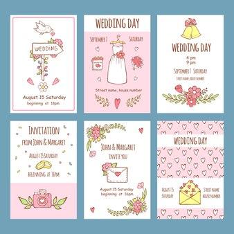 Hochzeitstag einladungen. verschiedene karten für hochzeitseinladung