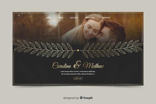 Hochzeitszielseite mit foto
