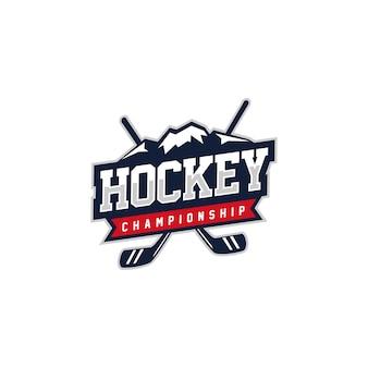 Hockey abzeichen logo design