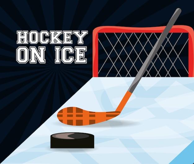 Hockey auf dem eissportspiel zum wettbewerb