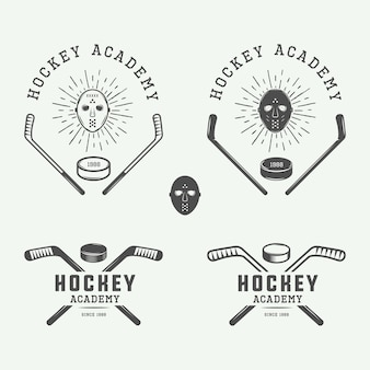 Hockey-embleme, logos, abzeichen