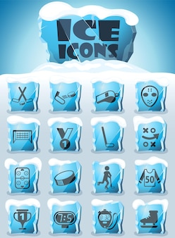 Hockey-icon-set