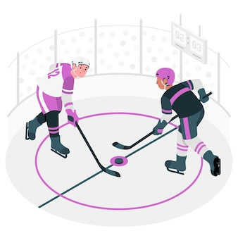 Hockey-konzeptillustration