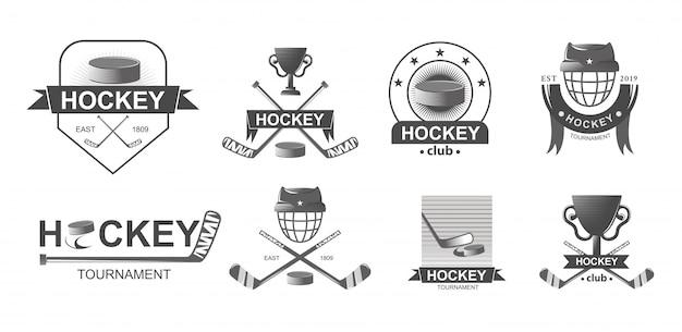 Hockey-logo und abzeichen