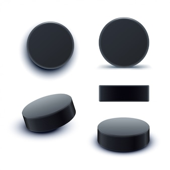 Hockey puck set