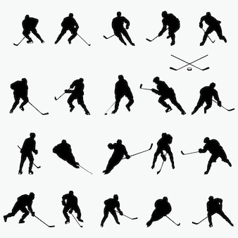 Hockey-silhouetten