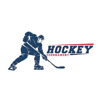 Hockey-spieler-logo-vektor-silhouette