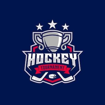 Hockey turnier sport logo vorlage.